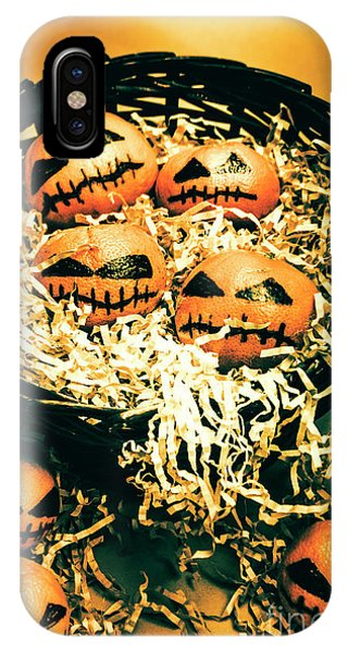 Basket Of Little Halloween Horrors IPhone Case