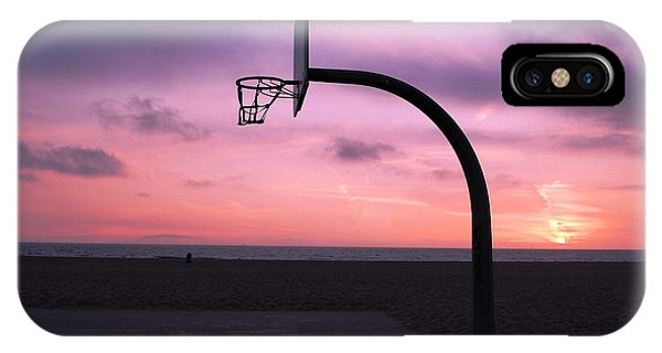 Basketball Court At Sunset IPhone Case