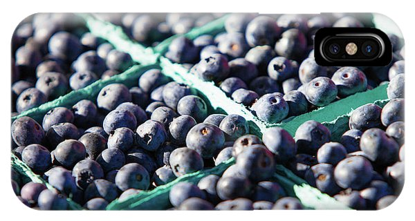Blue Berry iPhone Case - Baskets Of Blueberries by Todd Klassy
