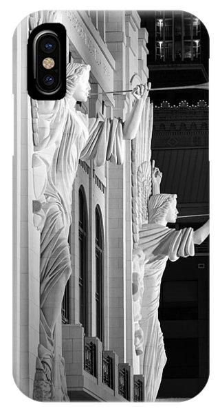 Bass Hall Fort Worth 520 Bw IPhone Case