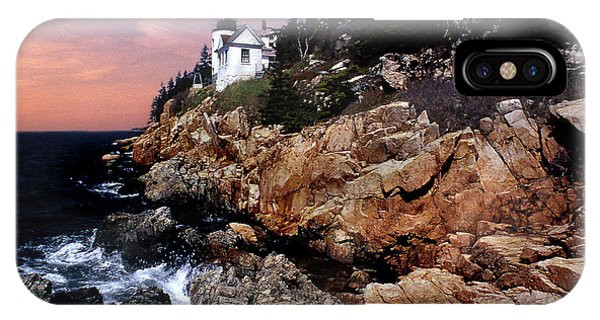 Lighthouse Wall Decor iPhone Case - Bass Harbor Head Lighthouse In Maine by Skip Willits