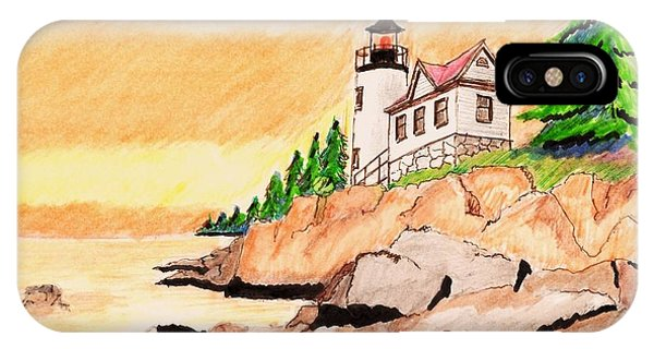 Bass Harbor Head Lighthouse Phone Case by Paul Meinerth
