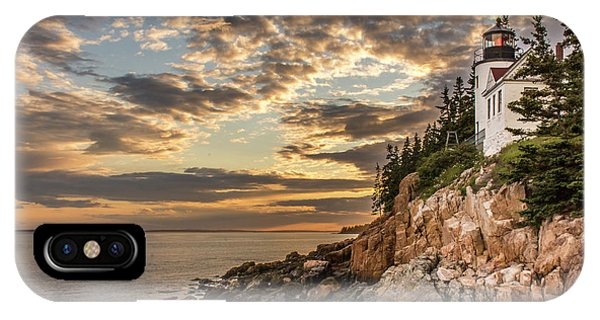 Bass Harbor Head Lighthouse Sunset IPhone Case