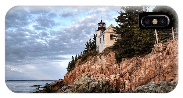 Bass Harbor Light No. 1 - Maine - Acadia IPhone Case