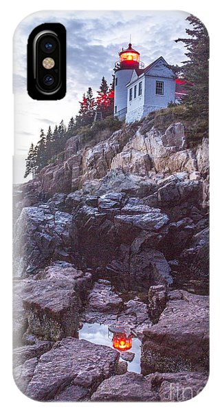 Bass Harbor Light Reflection IPhone Case