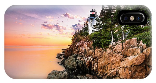 Bass Harbor Lighthouse Sunset IPhone Case