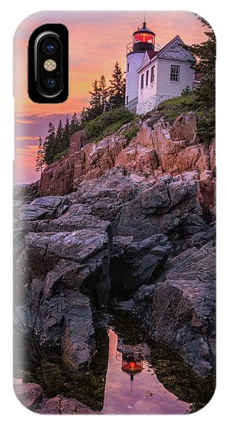 IPhone Case featuring the photograph Bass Harbor Lighthouse by Expressive Landscapes Fine Art Photography by Thom
