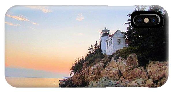 Bass Harbor Sunset II IPhone Case