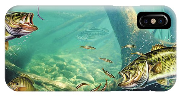 Bass iPhone Case - Bass Lake by JQ Licensing