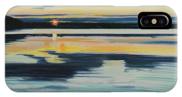 Bass Lake Sunset IPhone Case