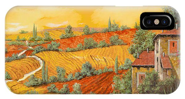 Oil iPhone Case - Bassa Toscana by Guido Borelli