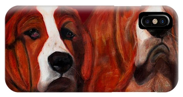 Basset Hound - Mia And Marcellus IPhone Case