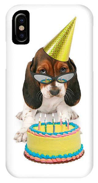 Basset Hound Puppy Wearing Sunglasses  IPhone Case