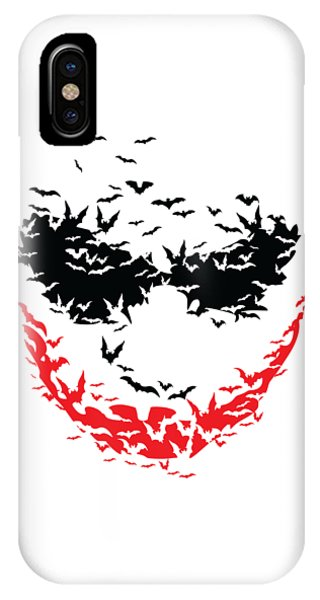 IPhone Case featuring the digital art Bat Face by Christopher Meade