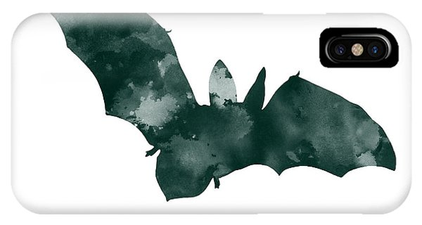 Bat Minimalist Watercolor Painting For Sale IPhone Case