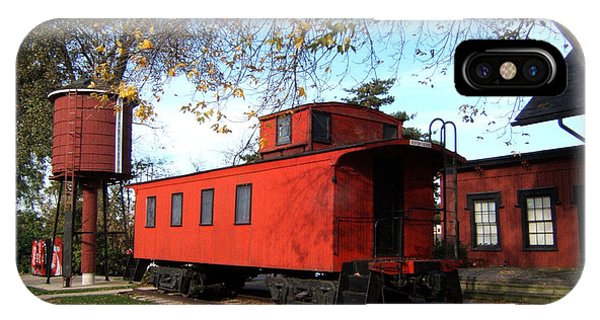 Red Caboose iPhone Case - Batavia Depot Caboose by Ely Arsha