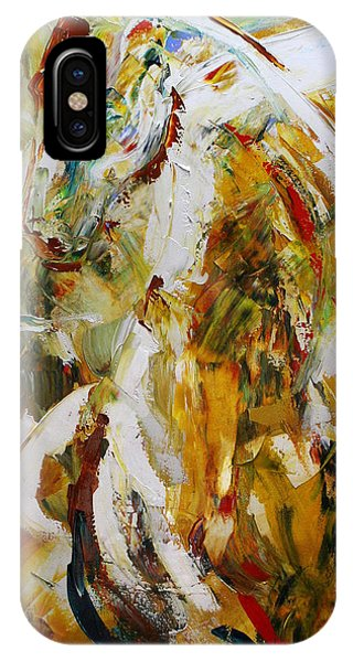 Equine iPhone Case - Bathed In Gold by Laurie Pace