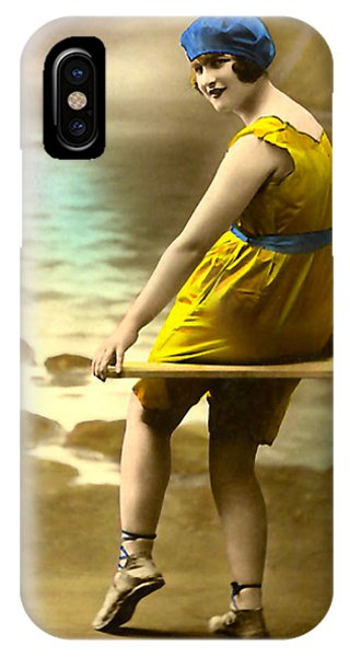 Bathing Beauty In Yellow  Bathing Suit IPhone Case
