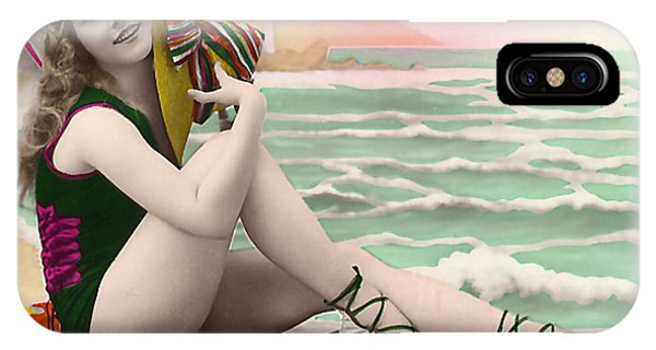 Bathing Beauty On The Shore Bathing Suit IPhone Case