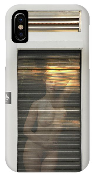 Bathroom Door Nude IPhone Case