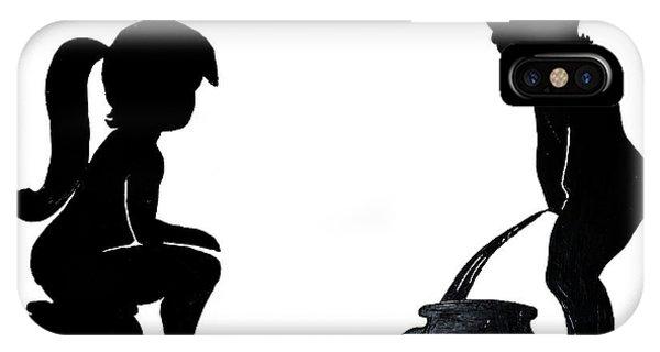 Bathroom Silhouettes IPhone Case
