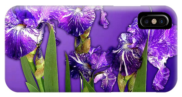 Batik Irises IPhone Case
