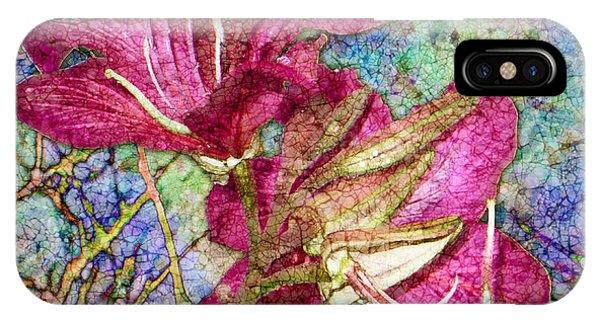 Batik Lilies IPhone Case
