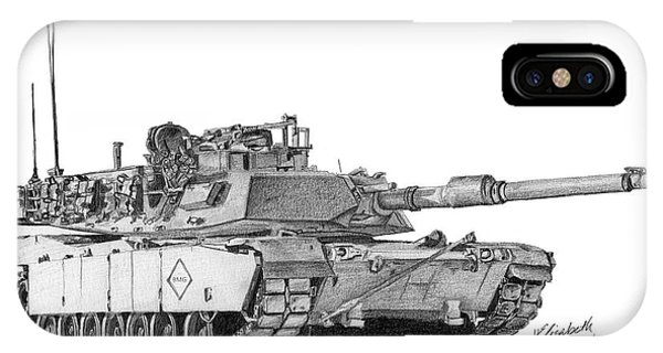 M1a1 Battalion Master Gunner Tank IPhone Case