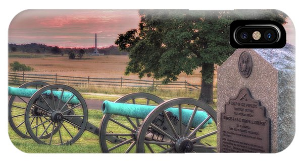 Battery F Cannon Gettysburg Battlefield IPhone Case
