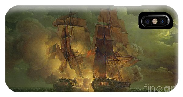 Battle Between The Arethuse And The Amelia IPhone Case