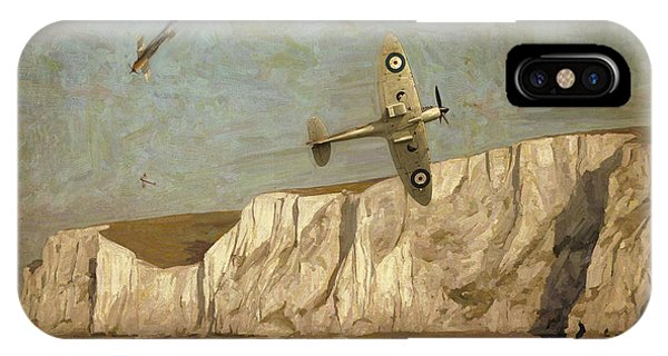 Briex iPhone Case - Battle Of Britain Over Dover by Nop Briex