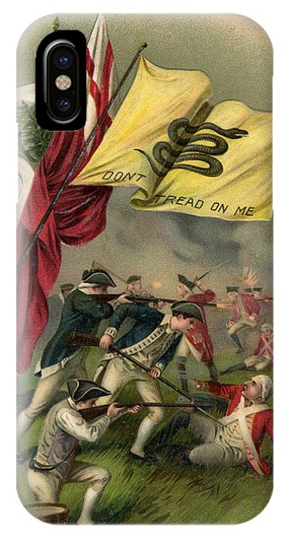 Struggle iPhone Case - Battle Of Bunker Hill With Gadsden Flag by American School