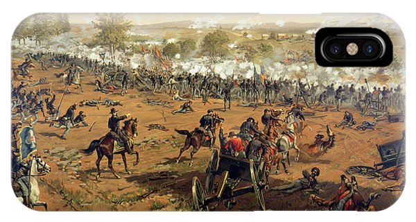 Shooting iPhone Case - Battle Of Gettysburg by Thure de Thulstrup