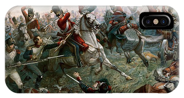 Horseman iPhone Case - Battle Of Waterloo by William Holmes Sullivan
