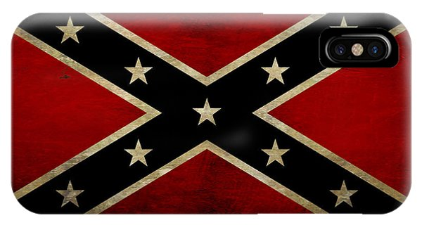 Office Decor iPhone Case - Battle Scarred Confederate Flag by Randy Steele