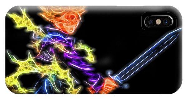 Saiyans iPhone Case - Battle Stance Trunks by Ray Shiu