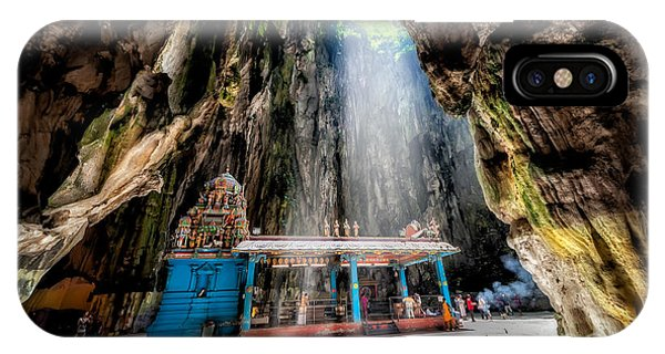 Batu Cave Sunlight IPhone Case