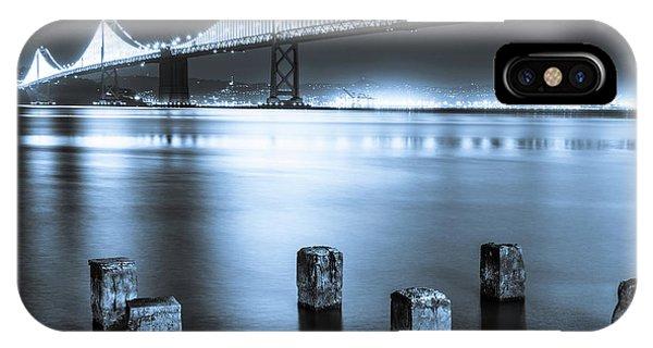 Bay Bridge 1 In Blue IPhone Case