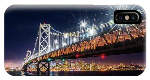 Bay Bridge And San Francisco By Night 5 IPhone Case
