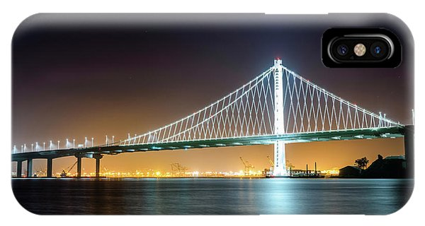 Bay Bridge East By Night 1 IPhone Case