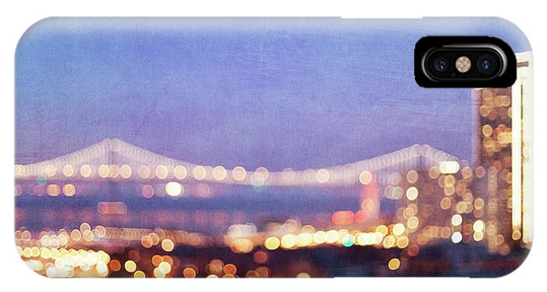 Bay Bridge Glow - San Francisco, California IPhone Case