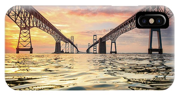 Architecture iPhone Case - Bay Bridge Impression by Jennifer Casey