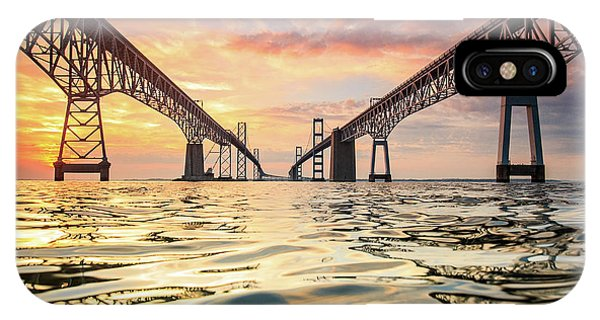 Bridge iPhone Case - Bay Bridge Impression by Jennifer Casey