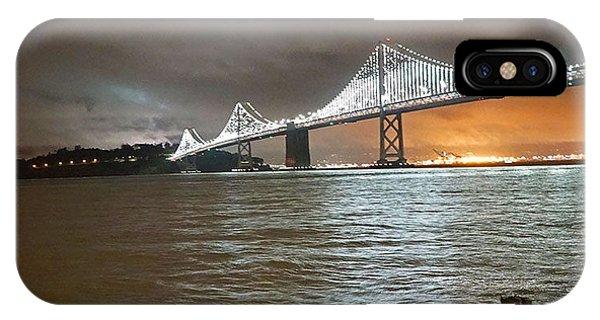 iPhone Case - Bay Bridge Night by April Bielefeldt