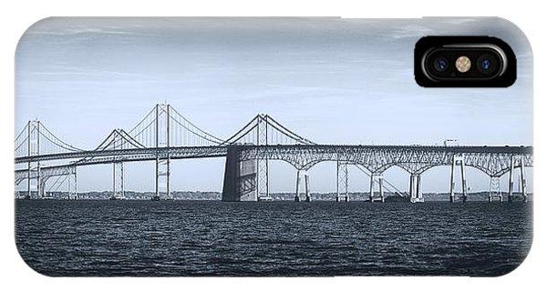 Chesapeake Bay iPhone X Case - Bay Bridge by Robert Fawcett