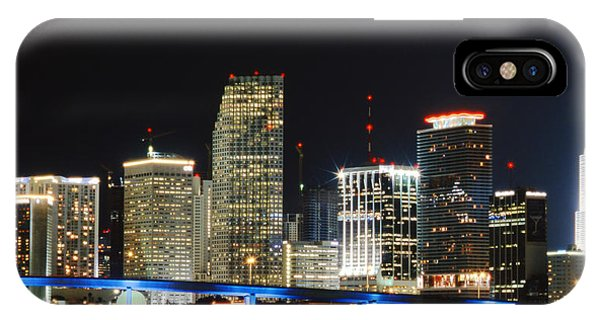 Bay Front Miami Skyline IPhone Case