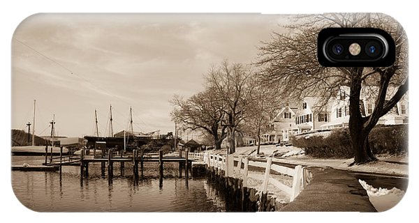 Bay Street In Winter - Mystic Ct IPhone Case