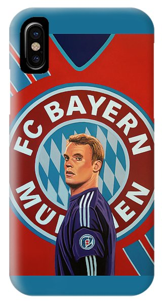 Blond iPhone Case - Bayern Munchen Painting by Paul Meijering