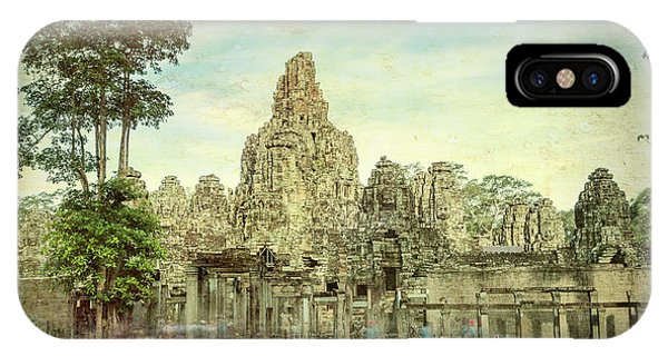 Angkor Thom iPhone Case - Bayon Remains #1 by Stephen Stookey