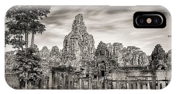 Angkor Thom iPhone Case - Bayon Remains #2 by Stephen Stookey